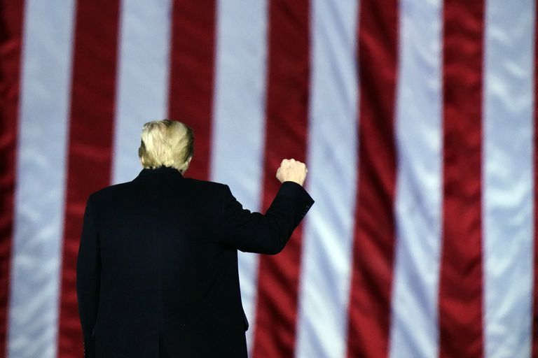 Donald Trump during a rally in Dalton (Georgia), on January 4, on the occasion of the Senate elections.