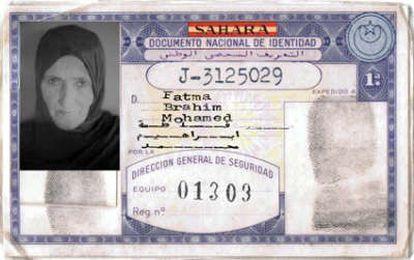 DNI español de una mujer saharaiu. Twitter Jalil Mohamed.