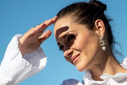 Marion Cotillard, por la tarde, antes de la rueda de prensa del premio Donostia.