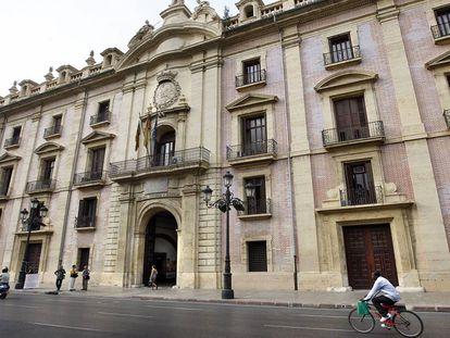 Fachada del Tribunal Superior valenciano.