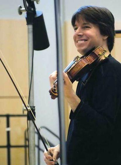 Joshua Bell en un estudio de grabación  el pasado mes de septiembre.