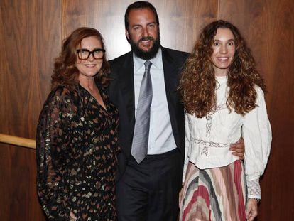 Francesca Thyssen, Borja Thyssen y Blanca Cuesta en el Museo Thyssen-Bornemisza de Madrid el 26 de febrero de 2019.