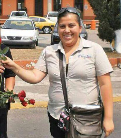 La periodista asesinada Anabel Flores.