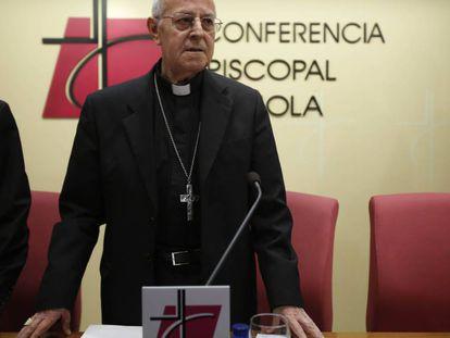 Ricardo Blazquez en ruedad de prensa el  27 de febrero.