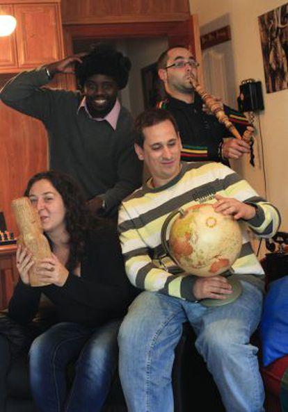 David, Pak, Cristina y 'Sele', de las Tertulias Viajeras.