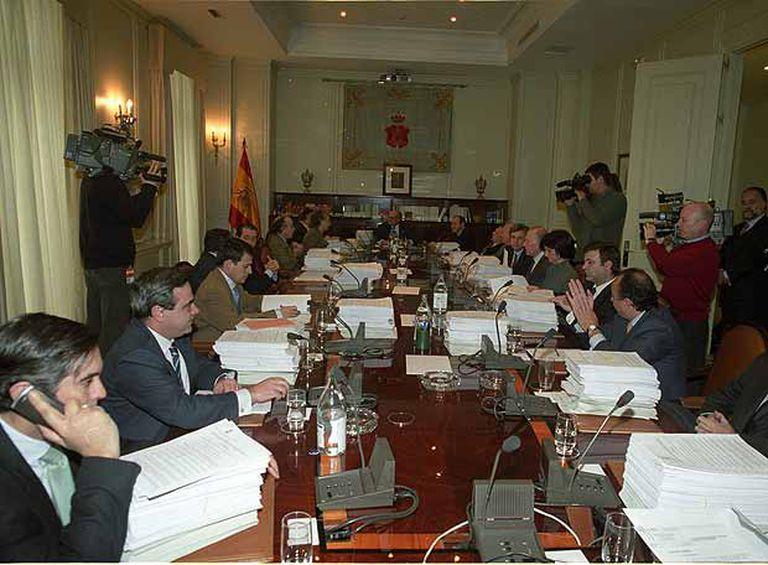 Reunión plenaria del Consejo General del Poder Judicial presidida por Francisco José Hernando.