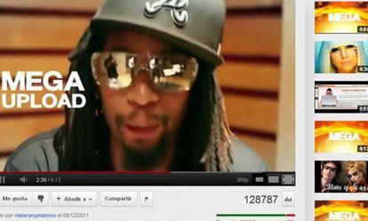 Artistas de Estados Unidos apoyan a Megaupload en un vídeo.