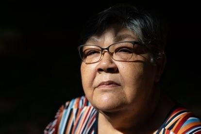 Rosa Cimiana dos Santos, de 61 años, hija del amnistiado político Arthur Pereira da Silva.