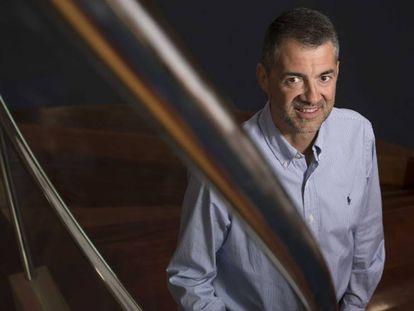 Javier Gamo, este lunes en el laboratorio de Tres Cantos.