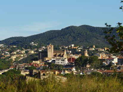 Vista de Calonge, en la comarca gerundense del Baix Empordà.