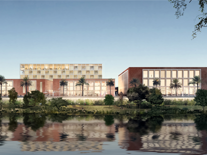 Recreación virtual del proyecto del grupo KKH para la antigua Fábrica de Tabacos de Los Remedios, en Sevilla.