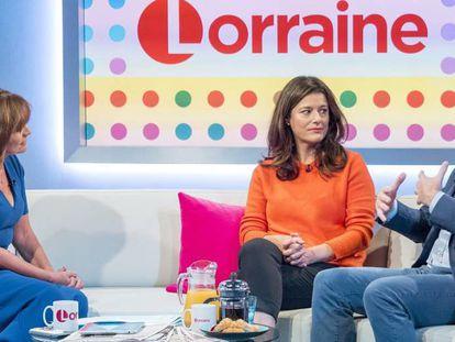 Miriam González Durántez y Nick Clegg, en el programa de Lorraine esta mañana.