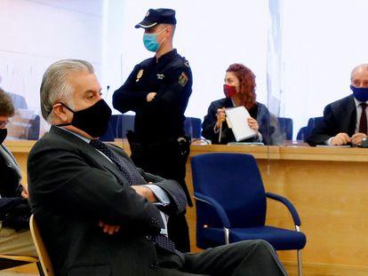 Luis Bárcenas, en la Audiencia Nacional durante la celebración del juicio sobre la caja b del PP, el pasado marzo.
