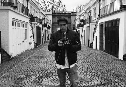 Broocklyn Beckham, durante la sesión de fotos con Burberry.