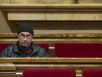 Lluís Llach en el Parlament.