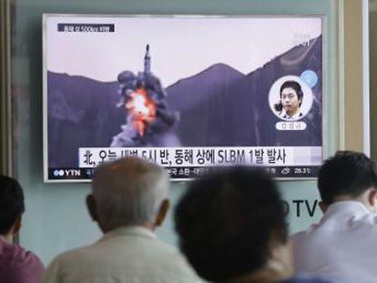 El cohete voló unos 500 kilómetros y cayó en aguas controladas por Japón