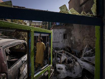 La casa de la familia Ahmadi en Kabul, el 13 de septiembre.