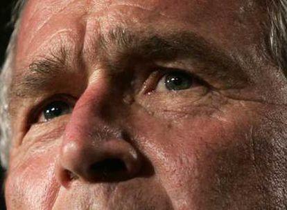 George W. Bush, durante un acto para recaudar fondos el lunes en Washington.