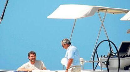 El exvicepresidente Anxo Quintana junto a Jacinto Rey