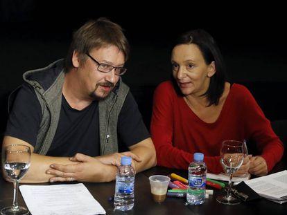 Carolina Bescansa y Xavi Domènech.