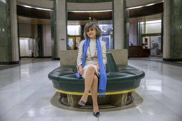 Parliamentarian María Luisa Carcedo, this Thursday in Congress.