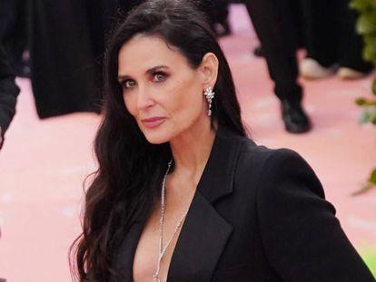 Demi Moore, en la gala del Met, en Nueva York, el pasado mayo.