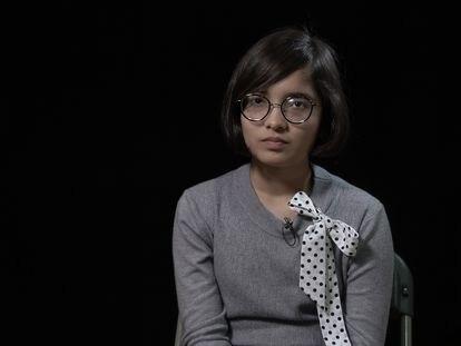 Ridhima Pandey, en el Foro Global sobre Neumonía Infantil, el pasado enero en Barcelona.