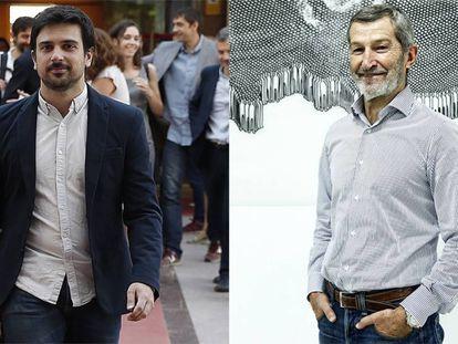 Los secretarios generales de Podemos en la Comunidad de Madrid y en la capital, Ramón Espinar y Julio Rodríguez.