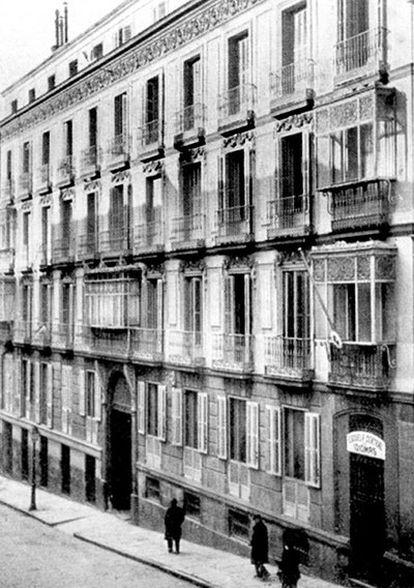 Primera sede de la Escuela Central de Idiomas, en la Cuesta de Santo Domingo.