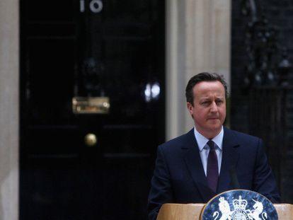 Cameron, durante su discurso.