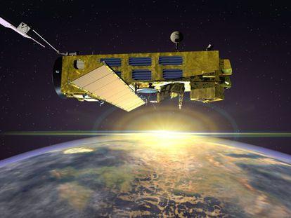 Ilustración del satélite 'Envisat', de observación de la Tierra.