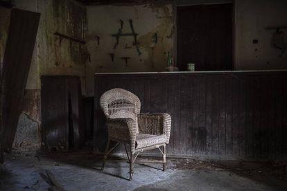 El antiguo bar de la aldea de Gomesende (Ourense), abandonado hace décadas.
