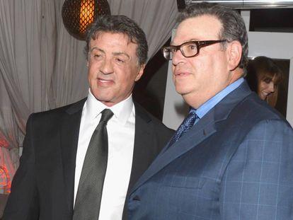 El abogado Marty Singer junto al actor Sylvester Stallone en una fiesta en agosto de 2012.