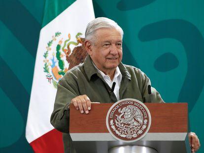 El presidente Andrés Manuel López Obrador, en el Palacio Nacional de Ciudad de México.