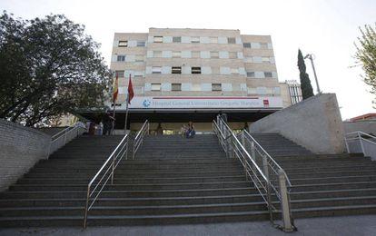Fachada principal del hospital Gregorio Marañón