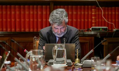 El presidente del Consejo General del Poder Judicial y del Tribunal Supremo, Carlos Lesmes, el 16 de enero de 2020.