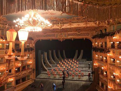 Nueva instalación del teatro de La Fenice.