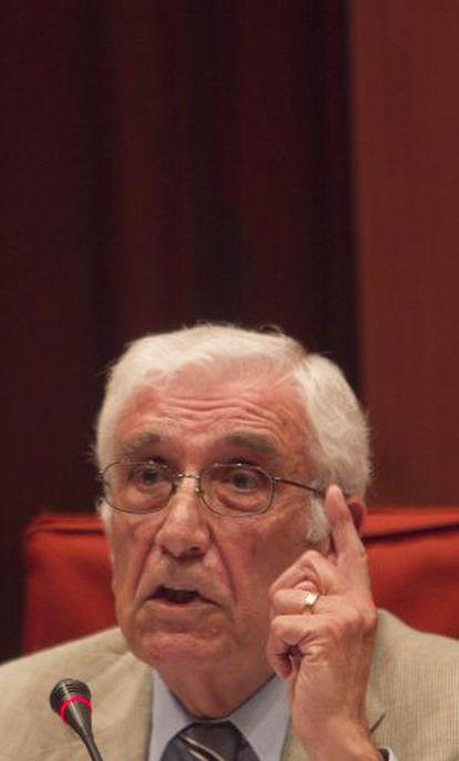 El extesorero de Convergència Daniel Osácar, en el Parlament.