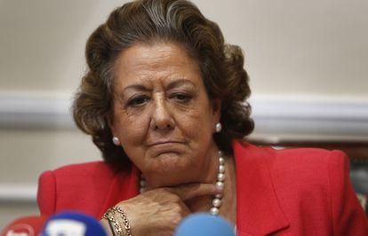 Rita Barberá, excalcaldesa de Valencia y senadora.