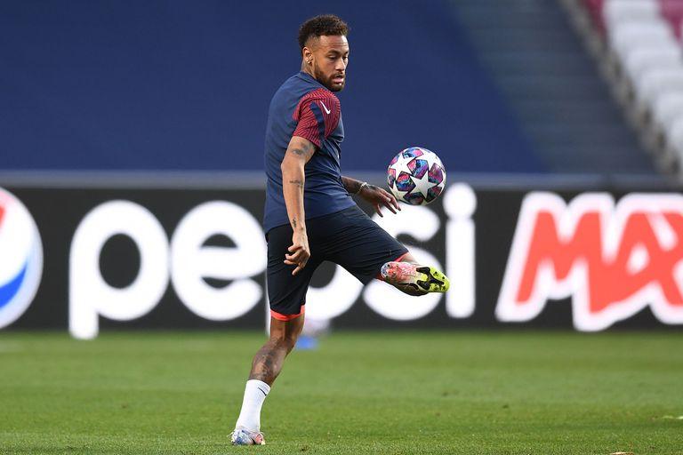 Neymar, en la previa de la final.