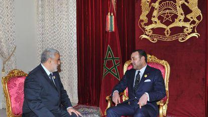 Mohamed VI y Abdelilá Benkiran, en noviembre.