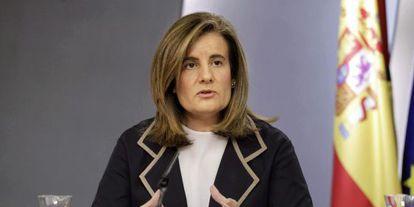 Báñez, este viernes tras el Consejo de Ministros.