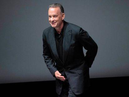 Tráiler de 'Inferno'. En la fotografía, Tom Hanks en la presentación en Florencia.