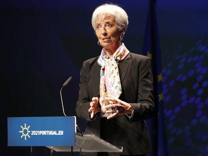 La presidenta del BCE, Christine Lagarde, el pasado mes de mayo en Lisboa.