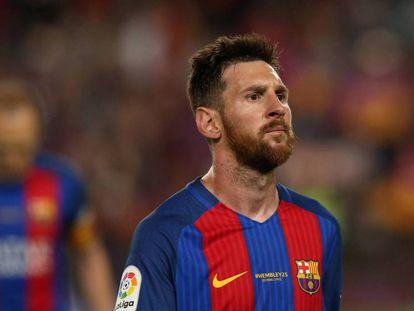 Messi, el pasado domingo en el Camp Nou.