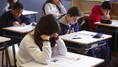 Alumnos de sexto de primaria en una escuela pública.
