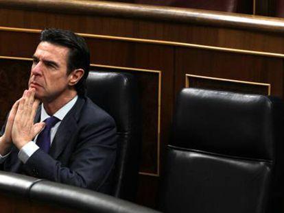 José Manuel Soria, el miércoles en el Congreso.