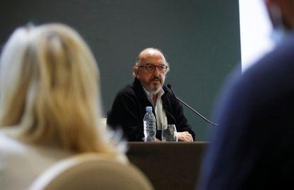 Jaume Roures, jefe de Mediapro, durante una rueda de prensa el pasado octubre en París