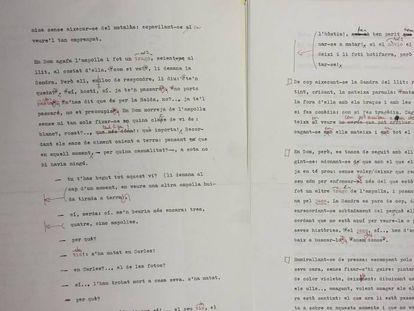 Dos páginas del manuscrito original de 'Òpera Àcid'.