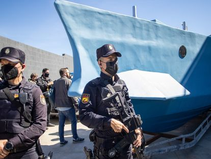 Narcolancha intervenida en Málaga el pasado marzo.